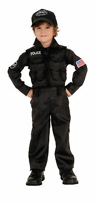 Polizeimann Swat Kinder Kostüm Jr.Offizier Businesskleid Süß Thema Halloween