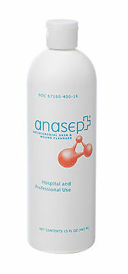Anasept Antimicrobial Skin Wound Cleanser 8oz Flip-top Bottle - Each