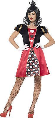 Herzdame Kartenkönigin Kostüm NEU - Damen Karneval Fasching Verkleidung Kostüm