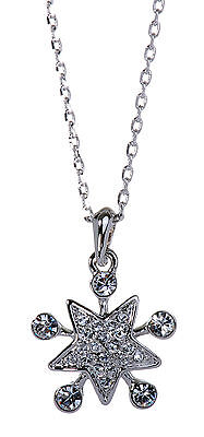 Used, Swarovski Elements Crystal Lucky Star Pendant Necklace Rhodium Authentic 7148v for sale  Shipping to South Africa