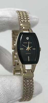 Anne Klein Diamond Black Dial Gold Steel Women's Watch AK/2184BKGB SD9