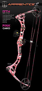 Bear-2012-Apprentice-2-Pink-RTH-Left-Hand-Compound-Bow-20-50lb-15-27in-Draw-275L