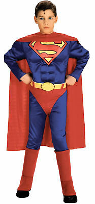Muscle Chest Boys Costume Red Cape Fancy Dress Up Rubies (Superman Dress Up Kostüm)