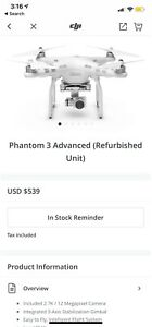 DJI Phantom 3 - Used only a few times
