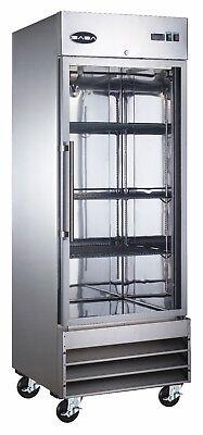 Saba Heavy Duty Commercial Reach-in Refrigerator 1 Glass Door Stainless Steel
