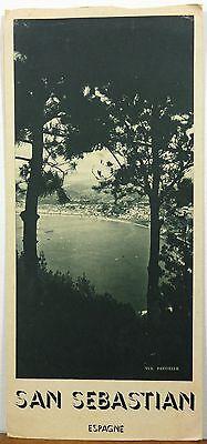 1948 San Sebastian Spain Espagne French language vintage travel brochure b