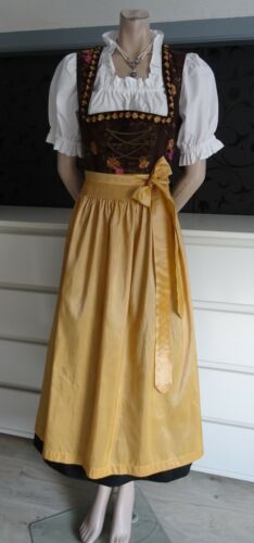 German Austrian Authentic Maxi Dirndl Dress  Blouse Apron 6