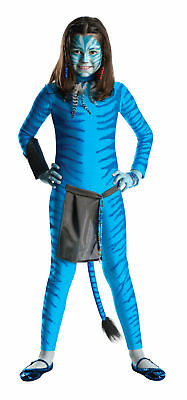 Avatar Child Neytiri Costume Jumpsuit With Na'vi Stripe Detailing Apron Prop
