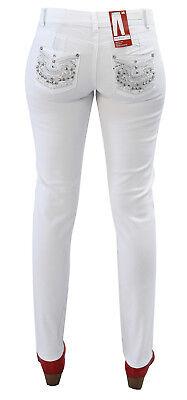 Damen Hose Jeans in weiss Modell mit Pia Push Up Schnitt Neu Jet-Line Damenhose