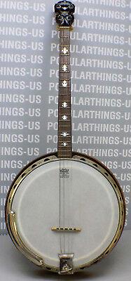 1920's Wm Lange Paramount Style B Tenor 4 String Banjo-MOP Inlay-Rosewood