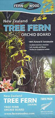 Fern Wood New Zealand Tree Fern Orchid Board Panel 12x12x1 Twin Pack