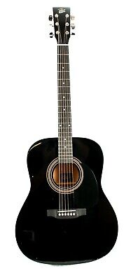 Rogue RA-090 Dreadnought Acoustic Guitar, Black-Blemished