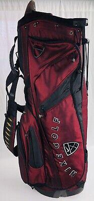 9114136d7c98 Vintage Nike Golf Air Hybrid w  Izzo Dual Strap Caddy Bag w  Stand Maroon  HTF