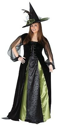 Fun World Goth Maiden Witch Adult Womens Plus Size Halloween Costume 5774