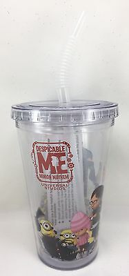 Minions Mayhem Universal Studios Despicable Me Clear Plastic Cup Travel Tumbler