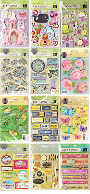 K&Company GRAND ADHESIONS -  Brenda Walton Tim Coffey - Flower Nature Tags - - K & Company