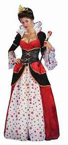 Adult Alice in Wonderland Disney Red QUEEN OF HEARTS Costume Dress * FAST SHIP