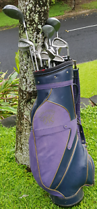 Golf club set with caddy bag