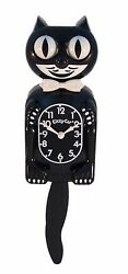 Classic Vintage Retro Kit-Cat Klock 12 3/4 Black Clock Rolling Eyes Tail Kitty