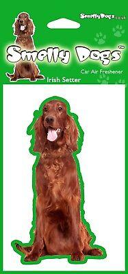 Irish Setter Dog - 4 x Car Air Freshener. Great little gift idea.