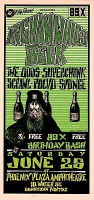 Afghan Whigs Beck HANDBILL Superchunk Sponge 89X Birthday Bash 3 Mark Arminski