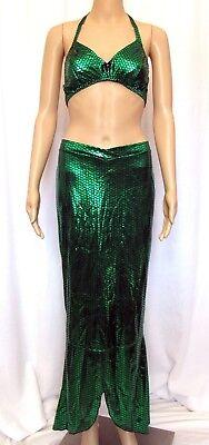 Fredericks of Hollywood Halloween Costume Mermaid Long Skirt Bikini Top Medium