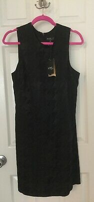 ABS Collection By Allen Schwartz Women's Sleeveless Sheath Dress Size 12 Black Black Sheath Dress