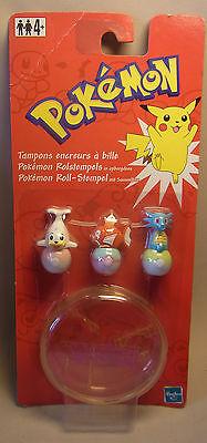Hasbro 2000 Pokemon Merchandise Poke Stempel Jurob Karpador Seeper OVP