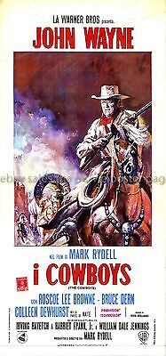 The Cowboys 1972 John Wayne Italian locandina
