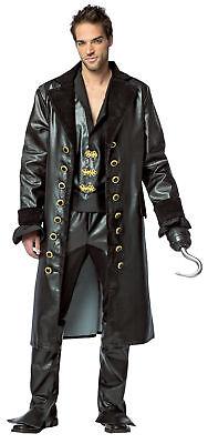 Once Upon A Time Hook Adult Men's Costume Black Jacket Fancy Dress Rasta Imposta ()