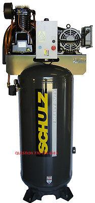 Schulz Air Compressor 7.5hp 30 Cfm 80 Gallon 175 Psi 230 1 Ph New