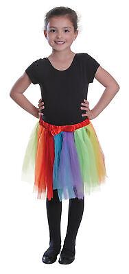 Mädchen Regenbogen Tutu Rock Petticoat Kostüm Kinder Ballett Prinzessin Tanz - Regenbogen Prinzessin Kind Kostüm