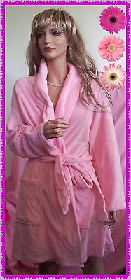 NWT $40  Large b Sleepwear Robe belt Soft Easter Summer Pink knee length pockets - Easter Sleepwear