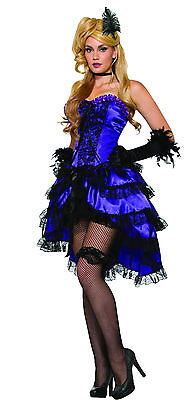 Adult Amethyst Saloon Can Can Girl Wild Western Costume Standard - Western Saloon Girl