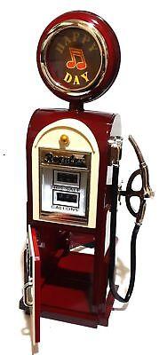 Retro American Tanksäule Zapfsäule Musik Spieluhr Ringe Feuerzeug Spieldose Box