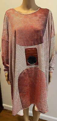 HENRIK VIBSKOV Long Sleeve Ombre dot print dolman sleeve dress w/ mirror SZ S