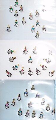 Black Crystal Bindis Body Jewelry Stickers Art BellyDance Bollywood US SELLER