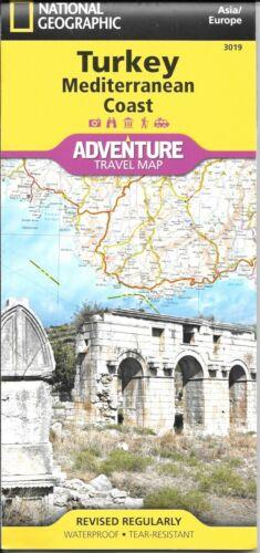 Turkey: Mediterranean Coast, by National Geographic Adventure Maps #3019