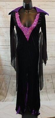 Leg Avenue Vampire Mistress Sexy Adult Halloween Black Purple Dress Costume  - Leg Avenue Vampire Costume