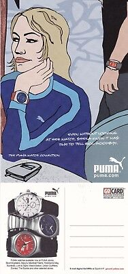 THE PUMA WATCH COLLECTION UNUSED ADVERTISING COLOUR  POSTCARD