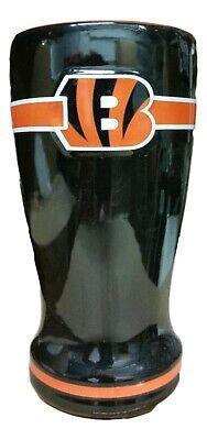 Cincinnati Bengals NFL Beer Glass 16 Oz  Pint Ceramic Pilsner Encore 696312
