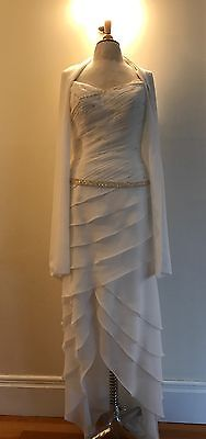 NWT STUNNING PRIVATE LABEL WEDDING DRESS - 12 - FREE SHIPPING!!!