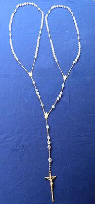 "Crystal Aorora Borealis Italy Wedding Rosary 0.5x50"" for Bride and Groom"