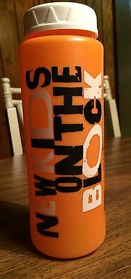 New Kids on the Block-NKOTB- Original Plastic Orange Drink Bottle with Lid 1989