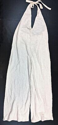 ASOS DESIGN Halter Neck Jumpsuit In Textured Jersey, US Size 12 MSRP $45.00