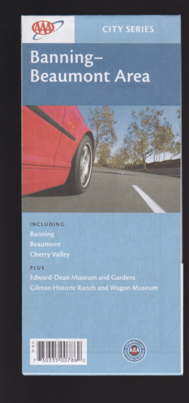 AAA Map City Series Banning Beaumont Area CA Cherry Valley Highland Springs..