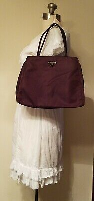 Prada Tessuto City Vela Borsa Moro Brown Nylon Tote Shopper Shoulder Hand Bag (Prada City)