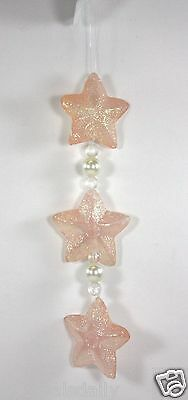 Beads Online (3 GLITTER STARS HOLIDAY ORNAMENT 6 BEADS ON LINE CHRISTMAS TREE)