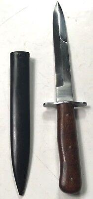 WWII GERMAN FIGHTING KNIFE & SCABBARD