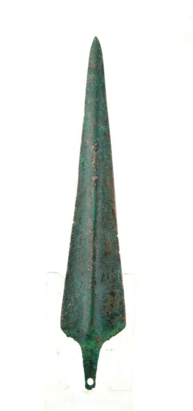 *SC*A NEARLY SUPERB ANCIENT NEAR EAST TANGED BRONZE DAGGER, 3rd-2nd mill BC!